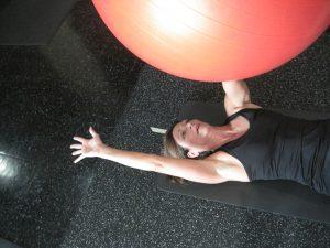 fitness ball stretch